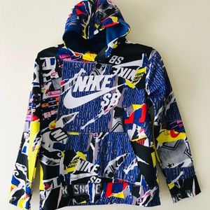 NIKE SB Skateboard Graffiti HOODIE JACKET Medium